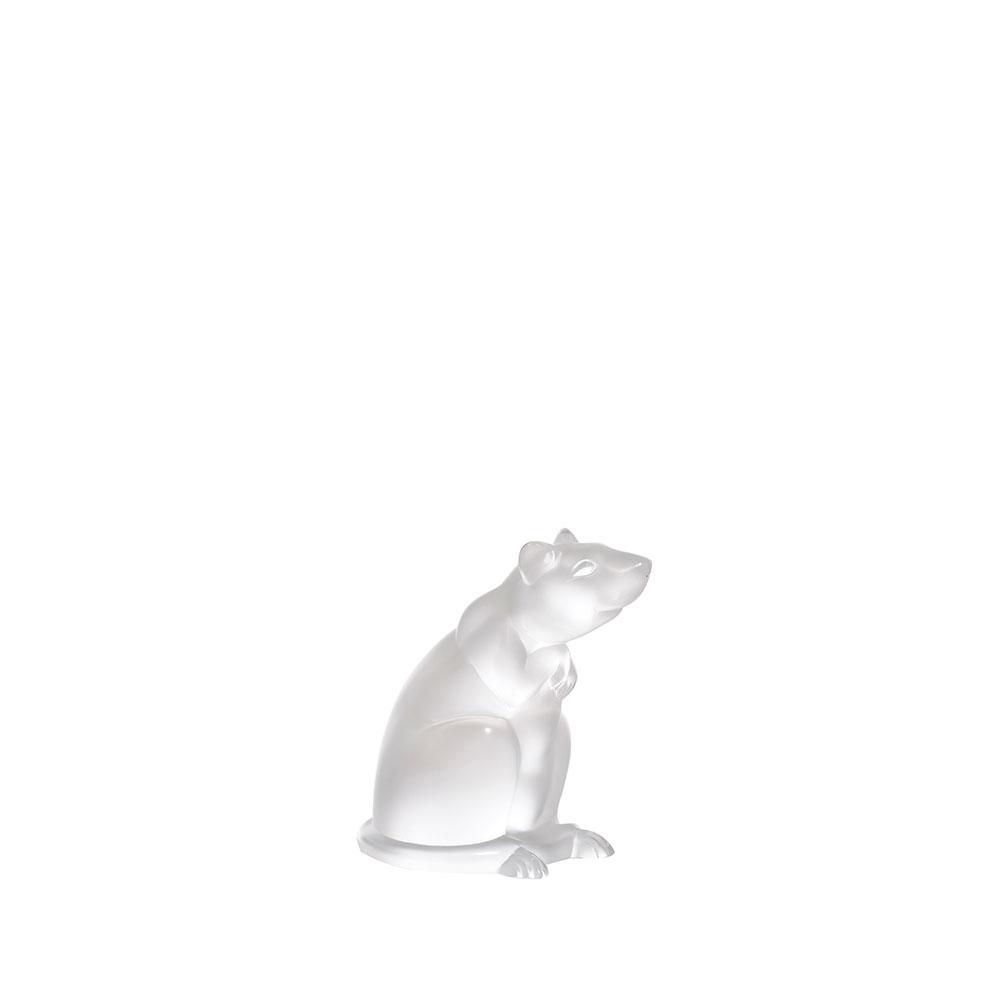 Rat sculpture | Clear crystal | Sculpture Lalique