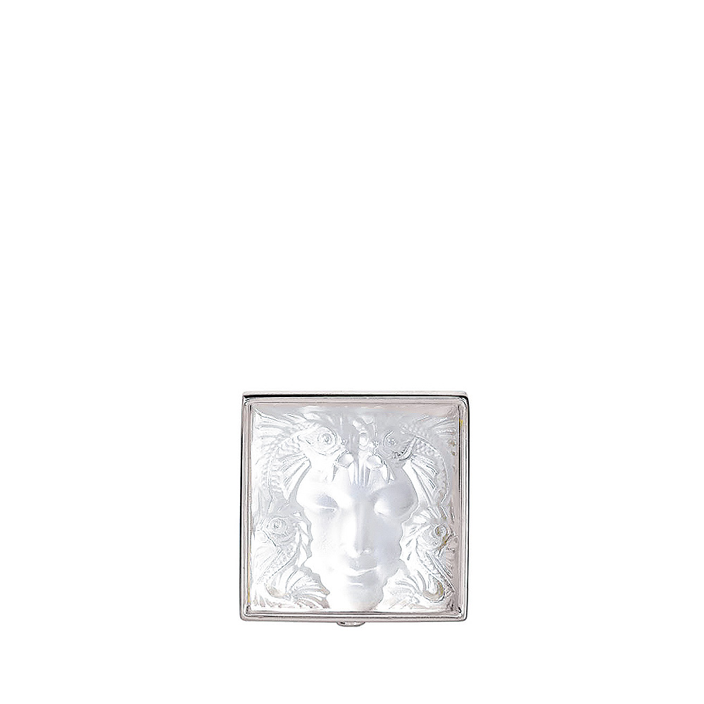 Aréthuse brooch | Clear crystal, silver | Costume jewellery Lalique