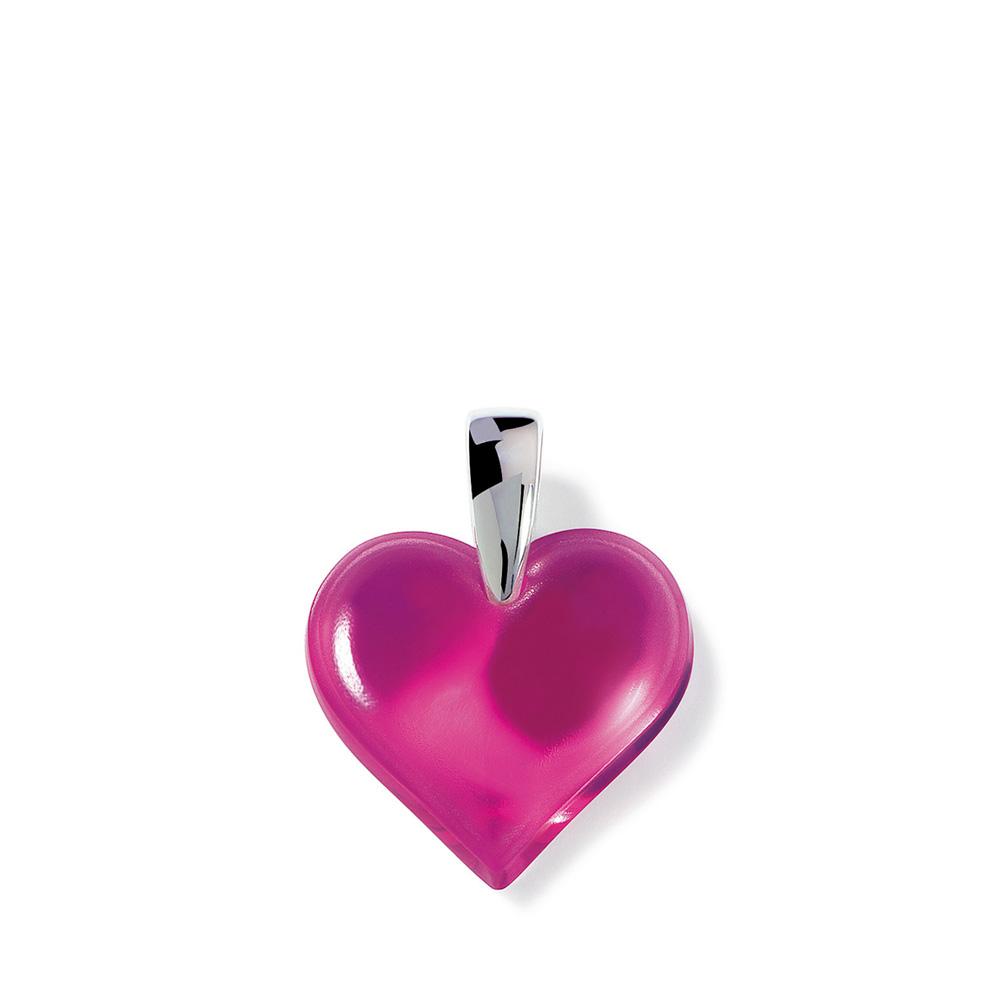 Amoureuse Beaucoup pendant | Fuchsia crystal, silver | Costume jewellery Lalique