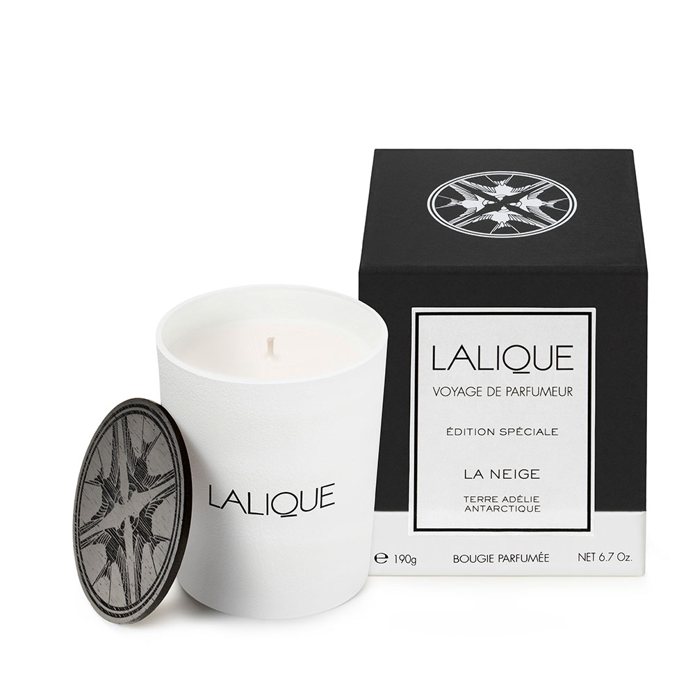 The Snow, Adélie Land - Antarctica, Scented Candle   190 g (6.7 Oz.)   Lalique Parfums