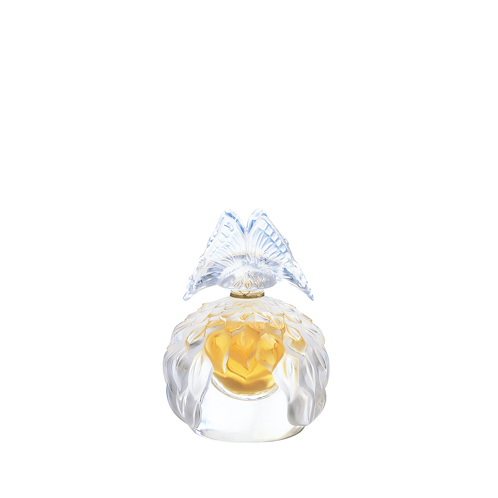 LALIQUE DE LALIQUE Crystal Flacon   Limited, Numbered and Signed Edition 2003, 60 ml (2 Fl. Oz.)   Lalique Parfums