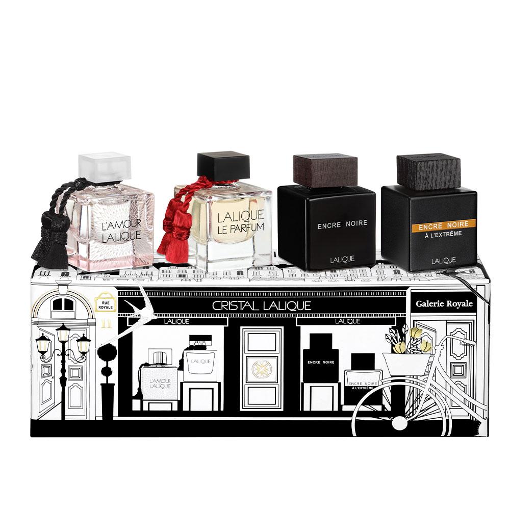 Miniatures Gift Set    4 Eau de Toilette bottles 4,5 ml (0.15 Fl. Oz.)   Lalique Parfums