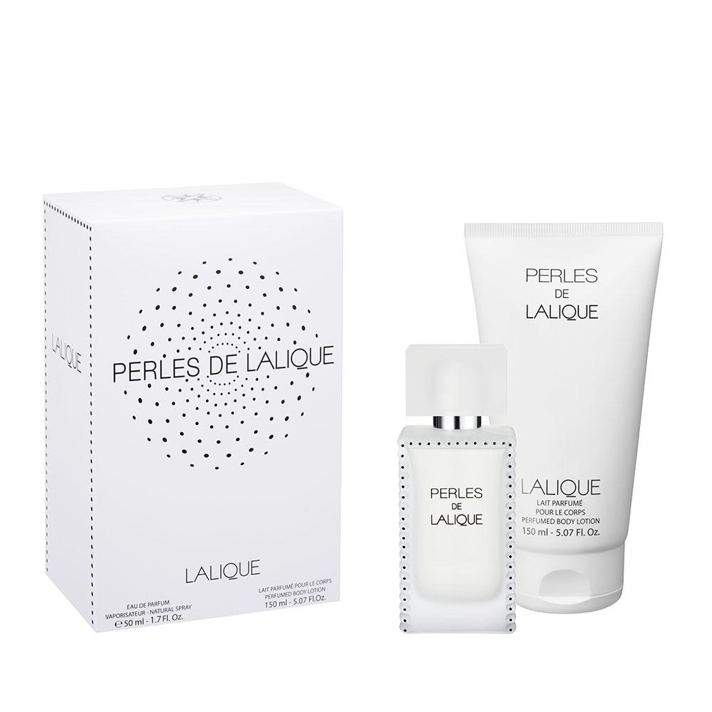 PERLES DE LALIQUE Gift Set   50 ml (1.7 Fl. Oz.) Natural Spray Eau de Parfum and 150 ml (5.07 Fl. Oz.) Perfumed Body Lotion   Lalique Parfums