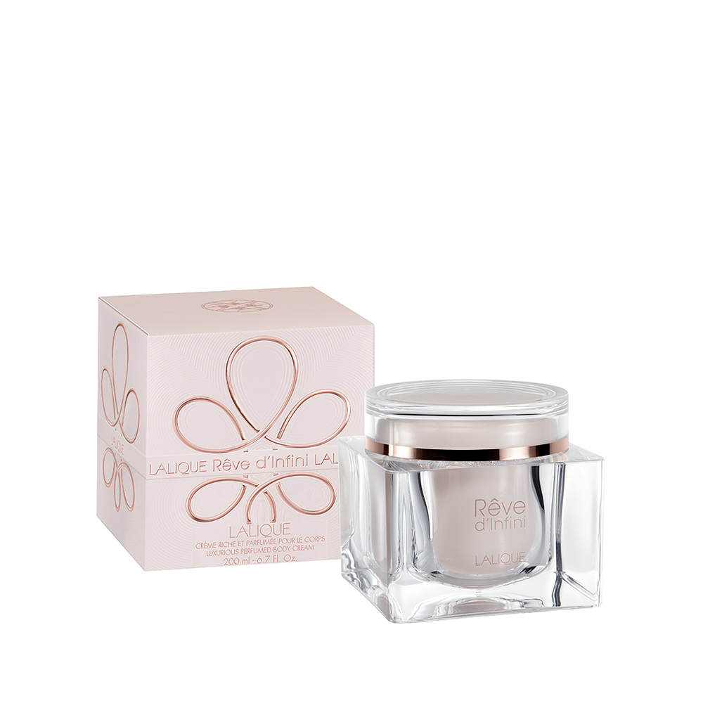 RÊVE D'INFINI Perfumed Body Cream | 6.7 Fl. Oz Jar (200 ml) | Lalique Parfums