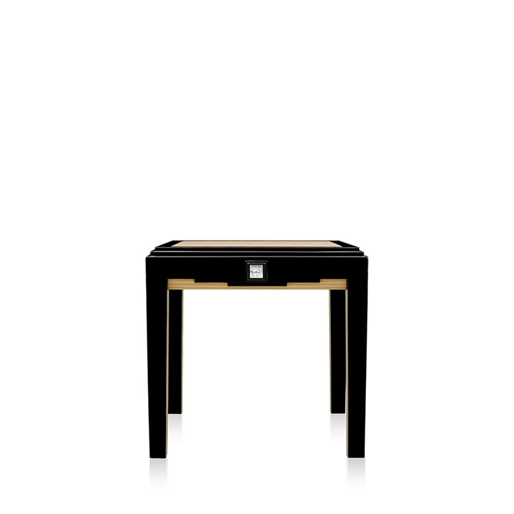 half moon dining table white large masque si black lacquered ivory ash extending