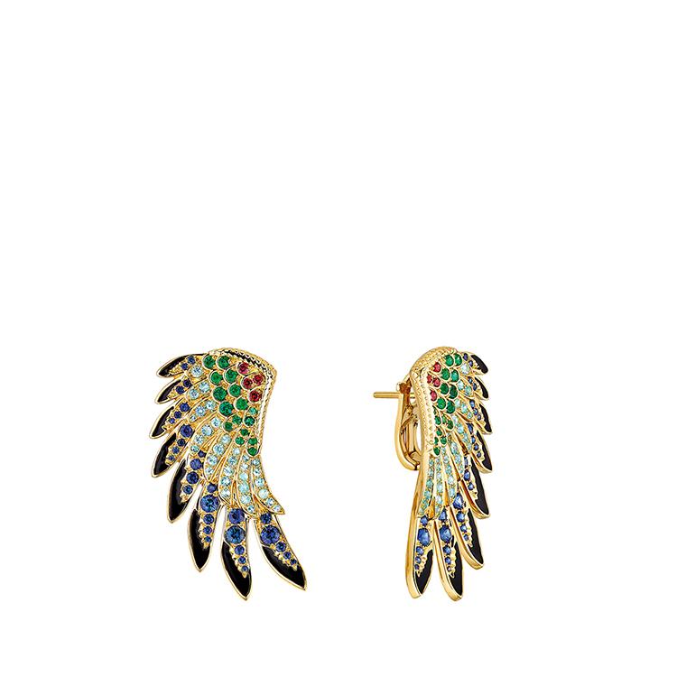 Perroquet earrings