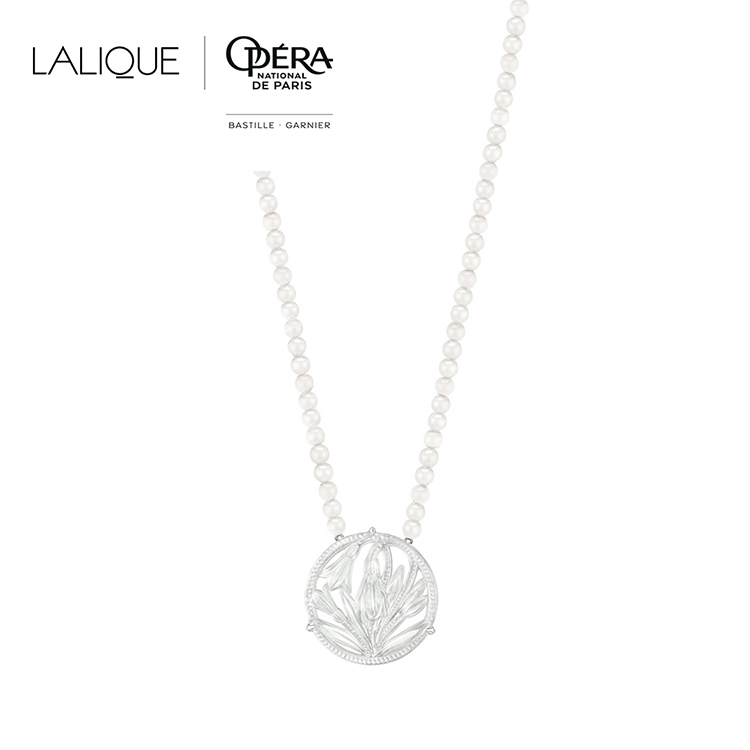 Fleur De Neige long necklace
