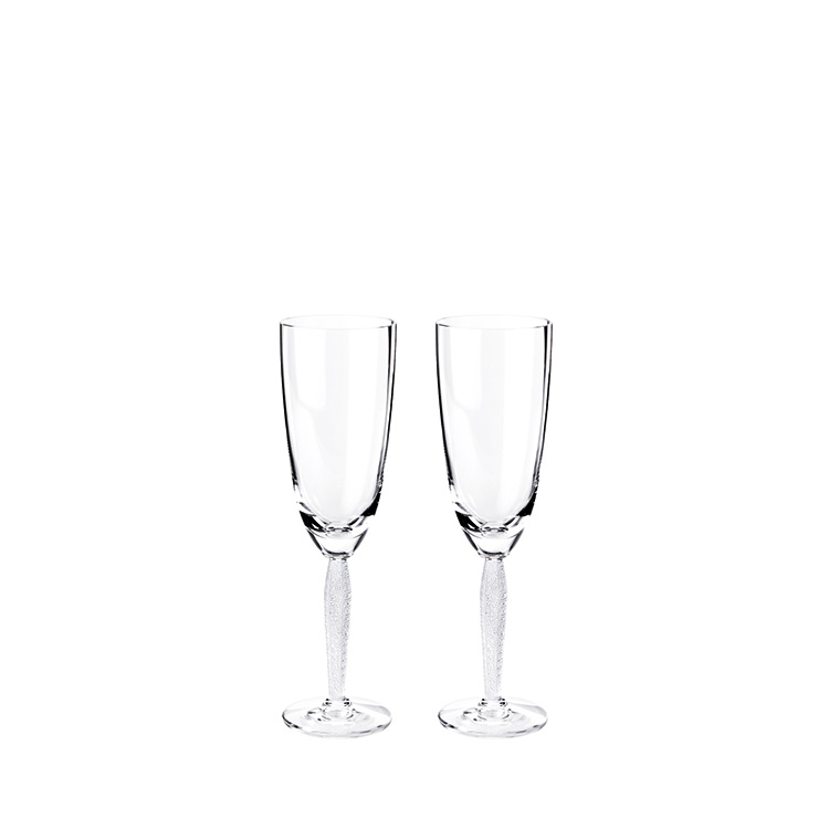 Set of 2 Louvre Champagne flutes