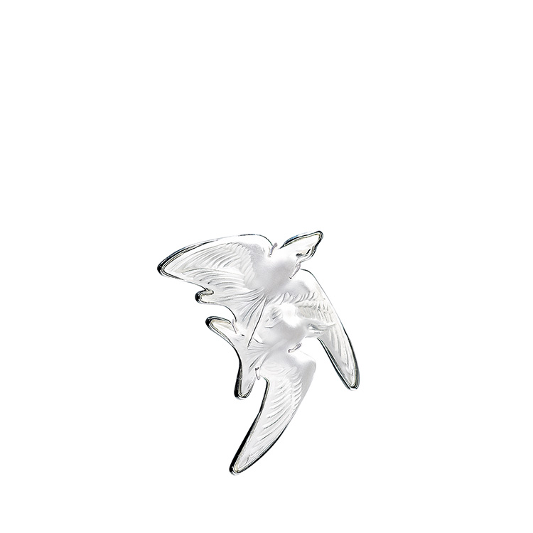 Hirondelles brooch