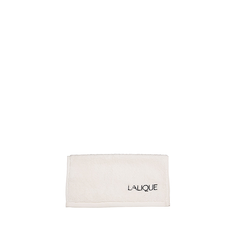 Lalique embroidered square towel