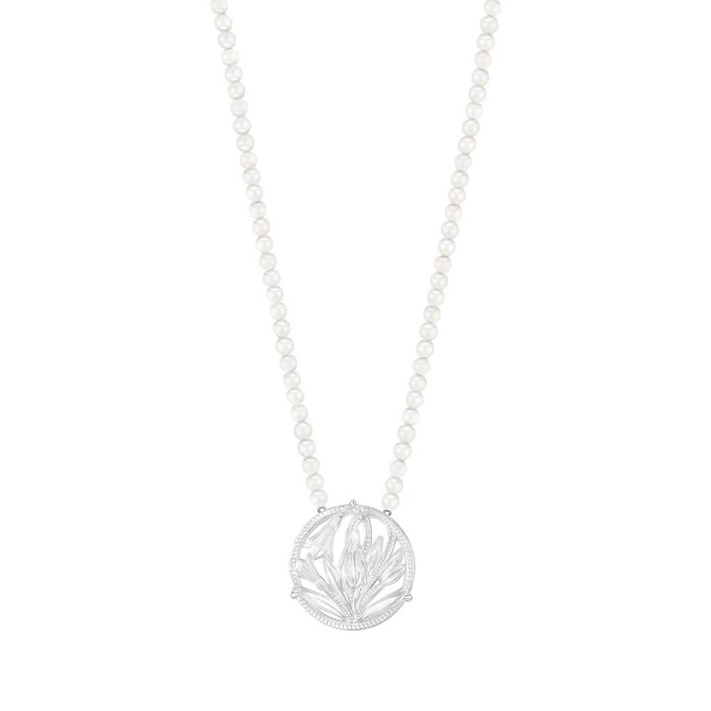 Fleur De Neige long necklace