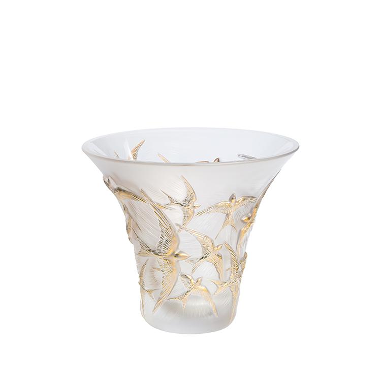 Hirondelles flared vase