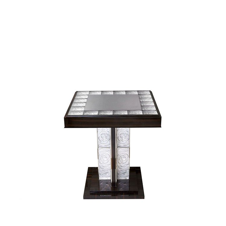 Roses Pedestal table by Pierre-Yves Rochon