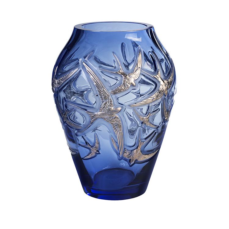 Hirondelles grand vase