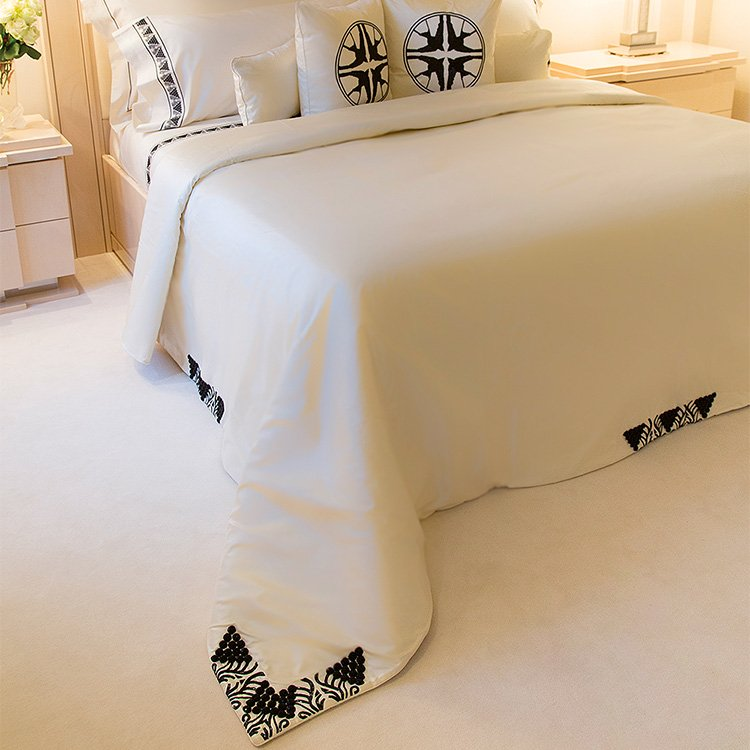 Raisins beaded bed-cover